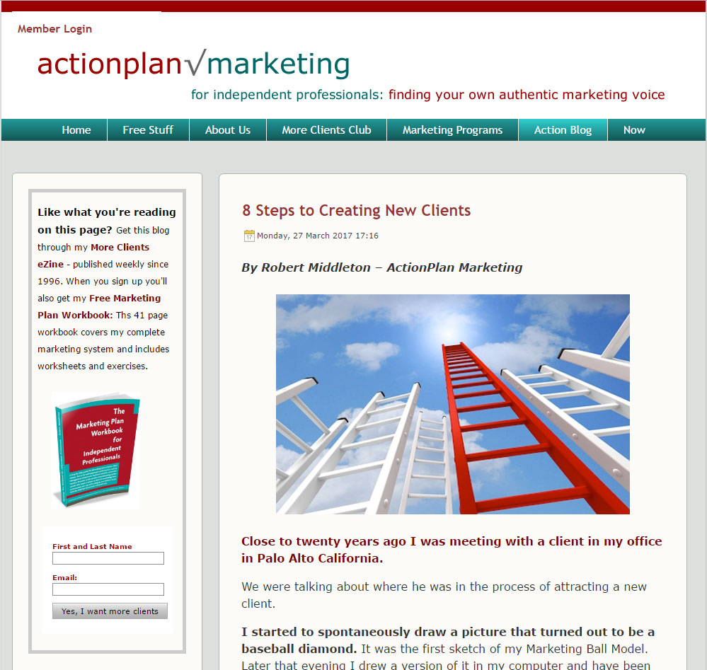 Action Plan Marketing Blog
