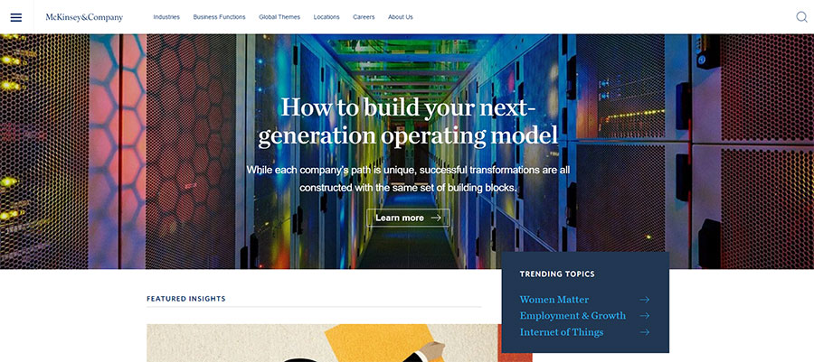 McKinsey Website Design
