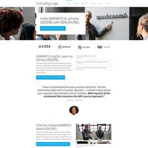 consultant website template homepage design