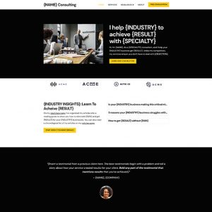 consulting website template home page preview