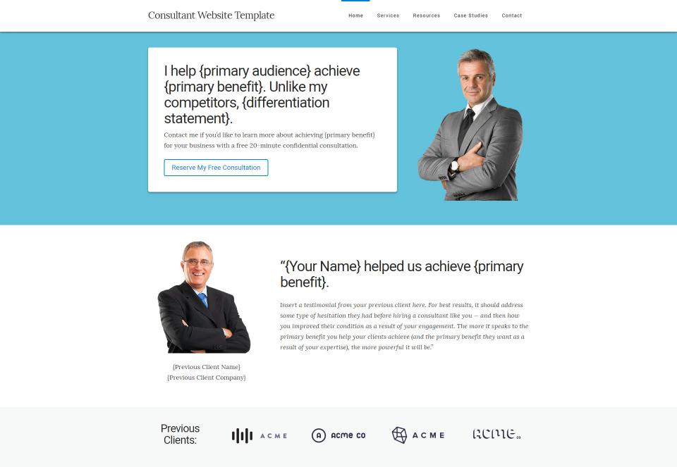 Consultant website template kit tsavo neal consultant website template kit pronofoot35fo Choice Image