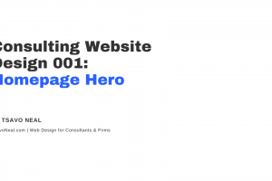 Consulting Website Design 001: Homepage Hero [VIDEO]