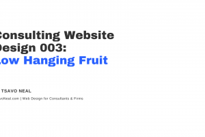 Consulting Website Design 003: Low Hanging Fruit [VIDEO]
