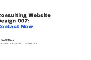 Consulting Website Design 007: Contact Now [VIDEO]