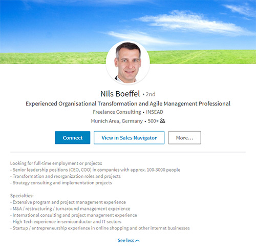 consultant linkedin profile template generate leads through linkedin