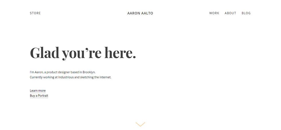aaron alto's personal website