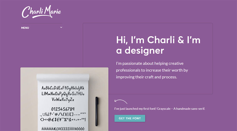 charli marie's personal website