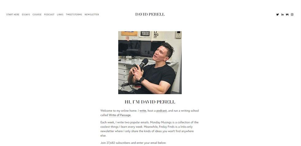 david perell's personal website