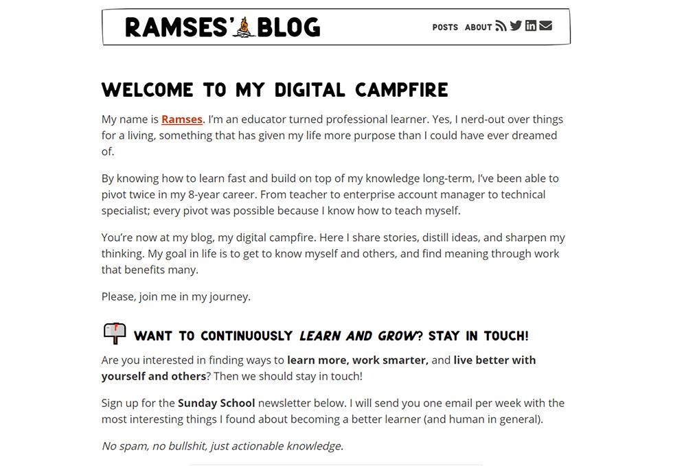 ramses oudt's personal website