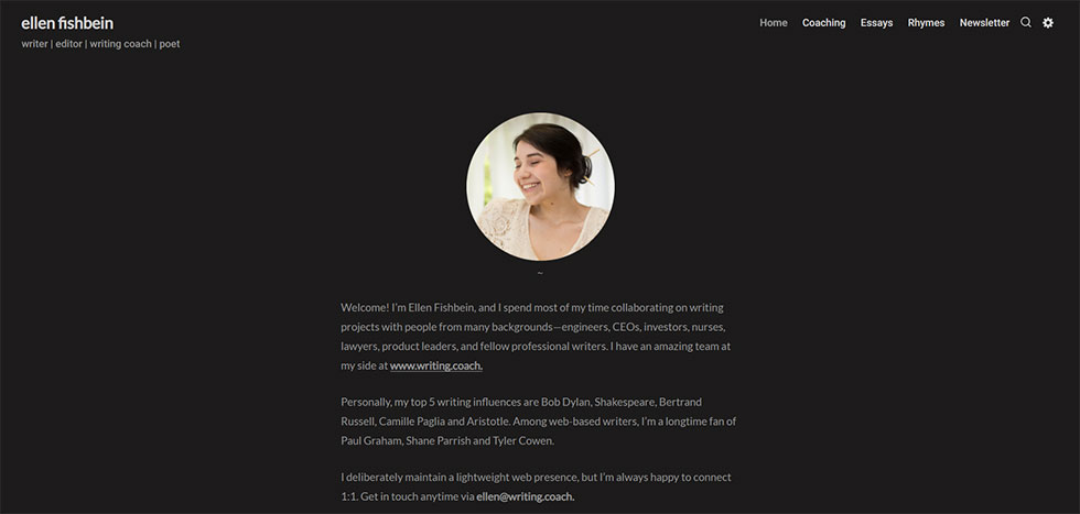 ellen fishbein's personal website