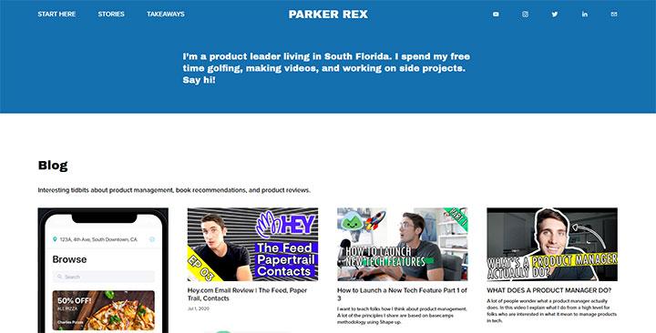 parker rex's personal website