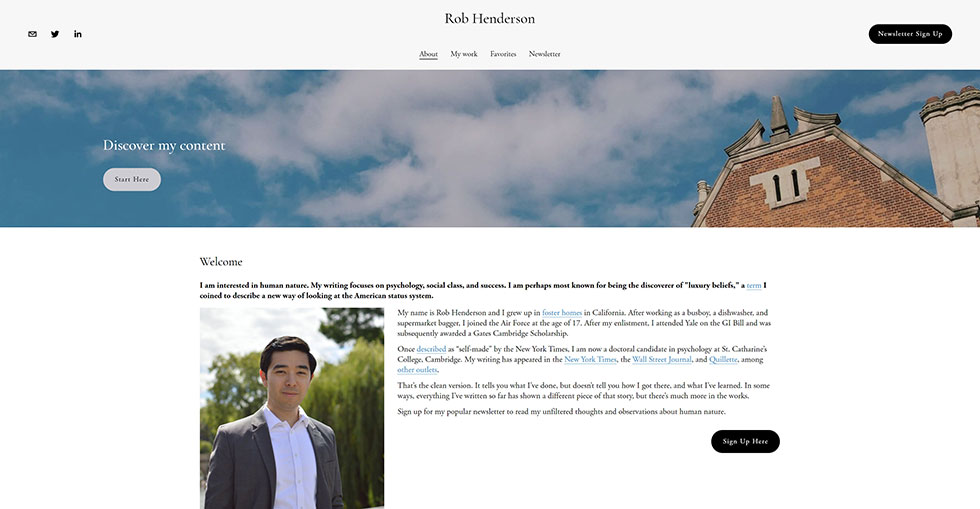 rob henderson's personal website